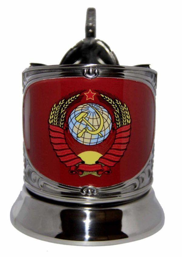"""Никелированный подстаканник """"СССР"""" (сублимация)"""