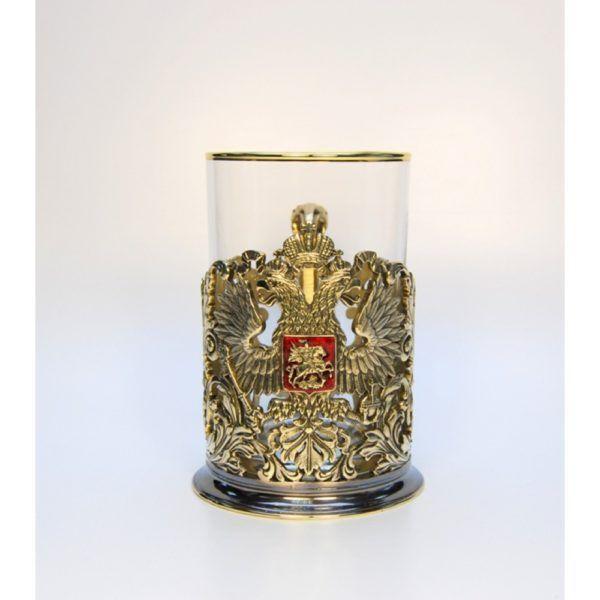 """Литой подстаканник """"Герб орнаментальный"""""""