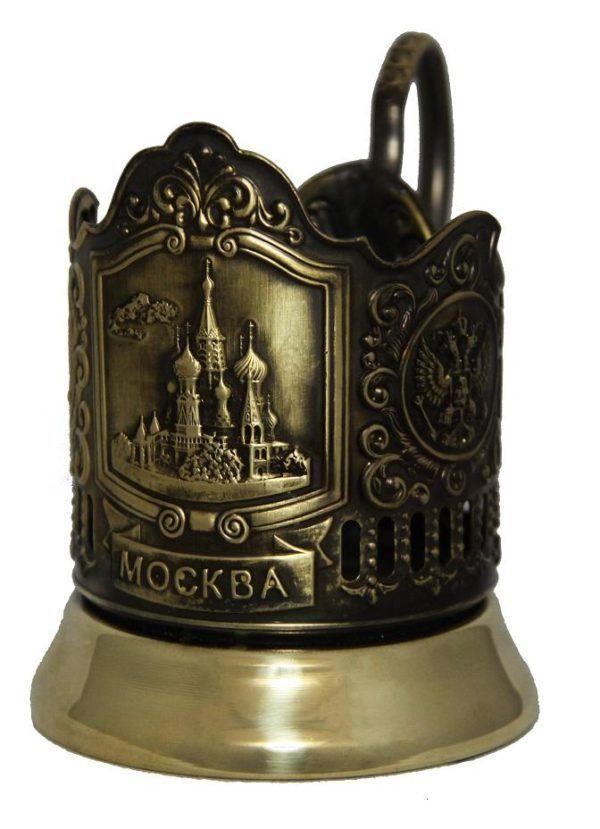 """Латунный подстаканник """"Храм Василия Блаженного"""""""