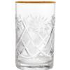 Хрустальный стакан с золотой каемкой