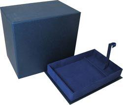 Подарочная коробка для подстаканника (синяя)